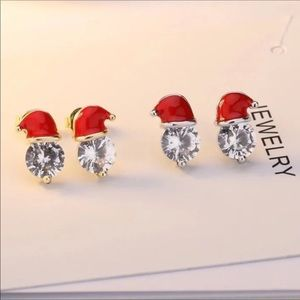 ❤️ Adorable Santa Claus stud earrings